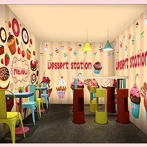 Cartoon Hintergrundbild Wüste Bäckerei Pizza Cupcake Shop Benutzerdefinierte Hintergrundbild Wandbild Kaffee Dessert Shop Hintergrund Benutzerdefinierte 3d Wandbild Hintergrundbild 350x256cm