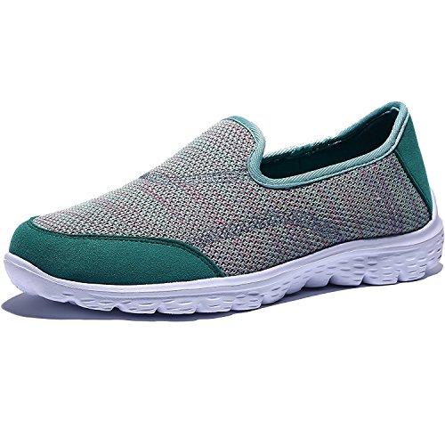 Madaleno Mujer Calzado Deportivo Casual Respirable Zapatos de Espuma Liviano Fitness Deportivo Entrenadores para