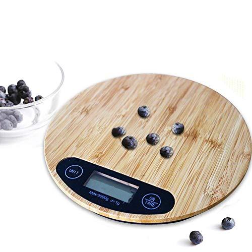 Báscula cocina Bamboo Wood Platform Grain Scale Precision