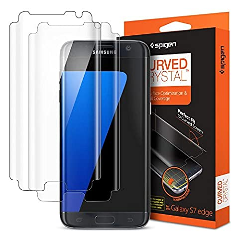 Protection ecran Galaxy S7 Edge, Spigen Samsung S7 edge Curved Crystal film protection X2 Ultra Resistant aux rayures LCD Film pour Samsung Galaxy S7 Edge 556FL20257