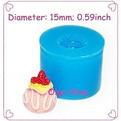 X110 moule silicone pâte fimo boule de glace et fruits