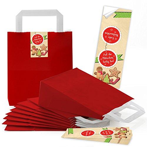 5rojos pequeñas bolsas papel Papel bolsillos suelo