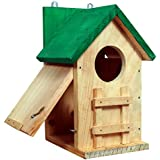PAXI DAYA Side Window Big Wooden Bird House (Brown)