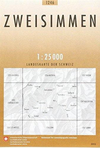Swisstopo 1 : 25 000 Zweisimmen
