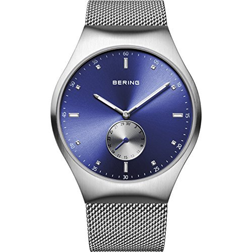 Bering tiempo 70142–007Hombres Smart viajero colección reloj con correa de acero inoxidable y Scratch Resistent cristal de zafiro. Diseñado en Dinamarca