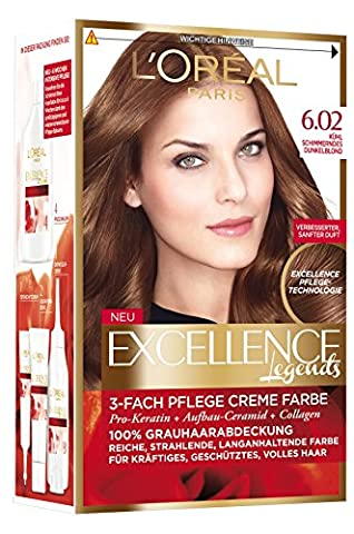 L'Oréal Paris Excellence Brown Legends Coloration, 6.02 Kühl schimmerndes dunkelblond, 1 Stück