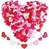 Sumind 680 Pezzi Petali a Forma di Cuore Confetti Cuoricini di Raso Dispersione Cuori per Decorazione di San Valentino Matrimoni, 4 Colori e 2 Misure