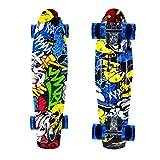 ENKEEO 57cm Fish Board Mini Cruiser Skateboard 4 PU Ruote per Principiante Bambini,...