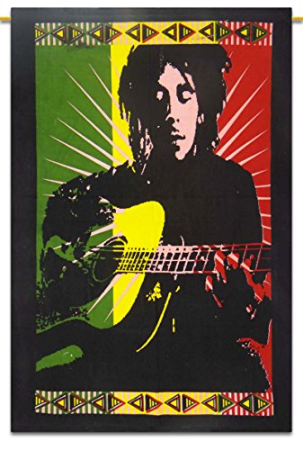 Bob Marley Indian Cotton Hängewandteppiche Poster Größe Muticolour Décor Werfen 42x30 Zoll