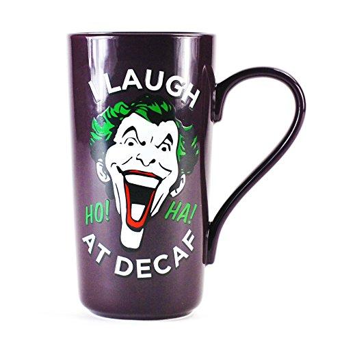 El Joker (Batman) Latte Taza de café–'I Laugh At Decaf'