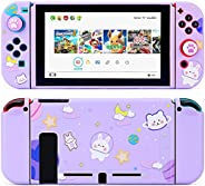 Tscope Protective Case for Nintendo Switch, Cute Soft TPU Slim Case Cover for NS Console and Joy-Con Controlle