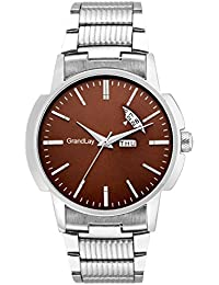 Grandlay mg-3080 brown dial with date and time authentic watch for menz