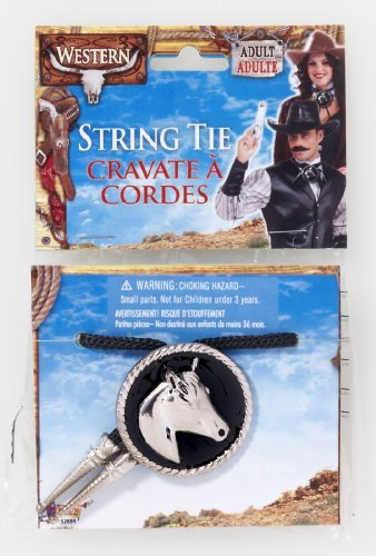 Western Cowboy Costume String Tie One Size