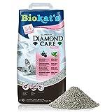 Biokat's Diamond Care Fresh, geurend - Fijne kattenbakvulling met actieve kool en aloë vera - 1 zak (1 x 10 l)