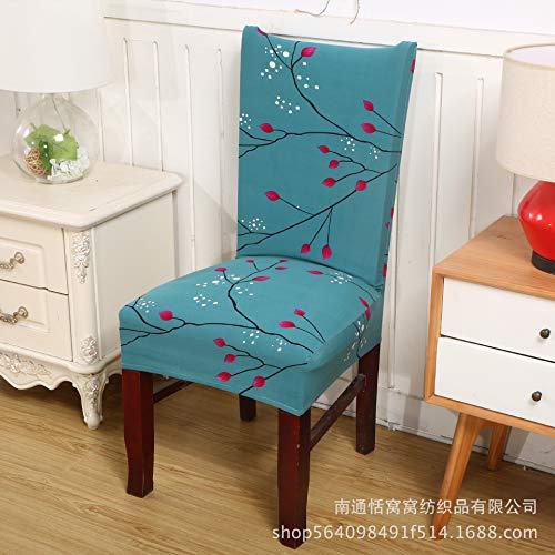 T-cyyt 2 pezzi elastico coprisedie elastico set completo per sedia hotel ristorante hotel casa antimacchia sedia da pranzo, cardamomo verde