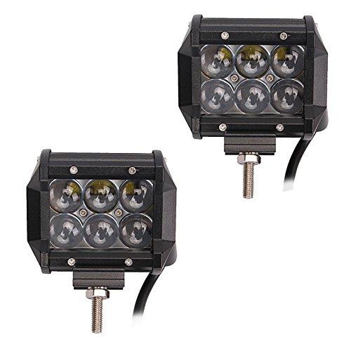 Preisvergleich Produktbild LARS360 18W LED Scheinwerfer Arbeitsscheinwerfer Fisch-Augen-4D-Objektiv Offroad Flutlicht Fluter 10V-30V Rückfahrscheinwerfer Zusatzscheinwerfer Scheinwerfer für Trecker KFZ Bagger SUV,  ATV