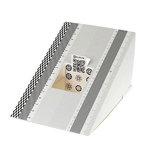 Off-objektiv (DSLRKIT Objektivkalibrierwerkzeug / Fokuskalibrierung, Ausrichtungslineal, zusammenklappbare Karte, 2Stück)