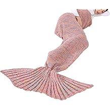 Triseaman Reina de la cola de la sirena Cobija Sofá de dormir Manta para Niña y Mujer Pink mujer