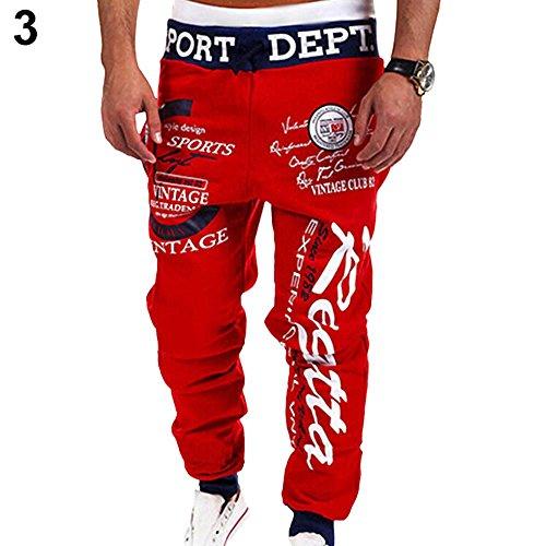 YOSEMITE -  Pantaloni sportivi  - Uomo Red+Black Waist