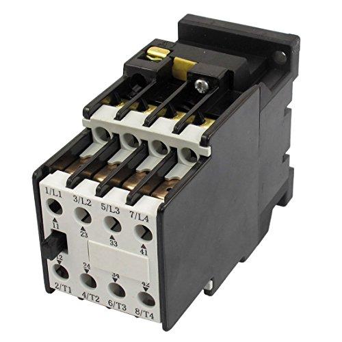 DealMux 24V 50Hz Coil 5.2A 3 Pole 2S 2Ö Standard-35-mm-Tragschiene 4KW AC Schütz -