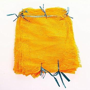 20 Stück Kartoffelsäcke Raschelsäcke 500 x 800 mm goldgelb 25 kg mit Zugband