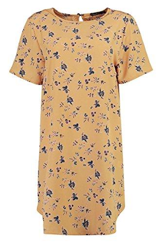 Damen Gelb Erin Etuikleid Aus Webmaterial Mit Blumen-print Gelb