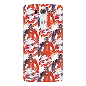 Marvel Civil War PBMARLGG3BEAT05 Captain America Back Cover for LG G3 Beat (Multicolor)