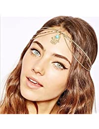Yean cabeza cadena cabeza vestido bohemio estilo para las mujeres y las  niñas e834123a787a