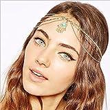 Yean cabeza cadena cabeza vestido bohemio estilo para las mujeres y las niñas