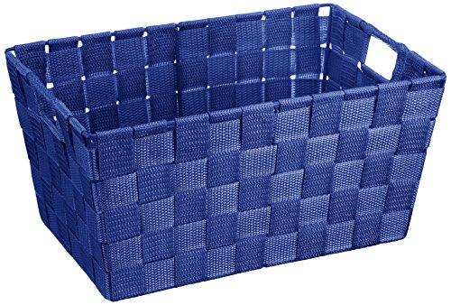 WENKO 20679100 Aufbewahrungskorb Adria S Blau - Badkorb,  Kunststoff-Geflecht,  Polypropylen,  30 x 15 x 20 cm