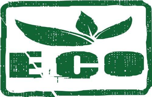 Eco Leaves Green Food Stamp Hochwertigen Auto-Autoaufkleber 12 x 10 cm