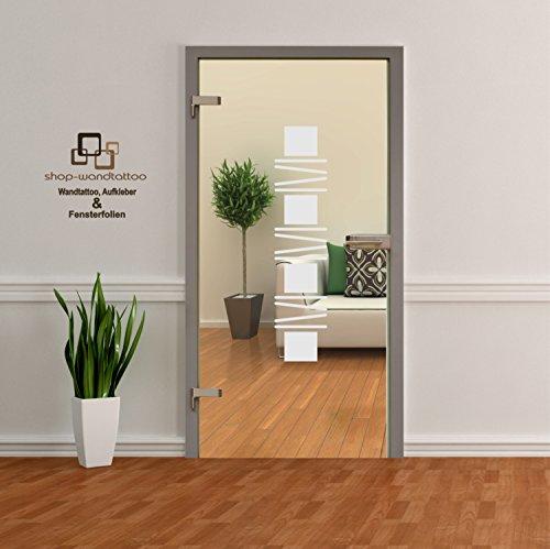 Glastür Aufkleber Tattoo Folie Glasdekor Fensterfolie Sichtschutz Wohnzimmer oder für alle Glasflächen Folie Türen GDT35 Größe ca. 110cm x 22cm