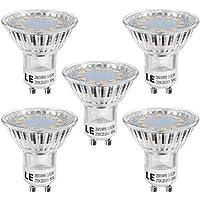 LE 5 Pack MR16 GU10 LED Light Bulbs, 35W Halogen Bulbs Equivalent, 250lm, 3W, Warm White, 2700K, 120° Beam Angle, Recessed Lighting, Track Lighting
