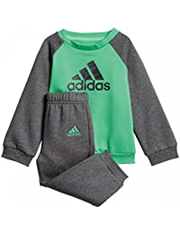 Adidas - Chándal Polar Unisex para bebé, Unisex bebé, DJ1571, Energy Green/Dark Grey Heather/Grey Five, 86