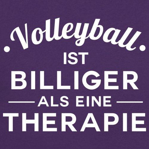 Volleyball ist billiger als eine Therapie - Damen T-Shirt - 14 Farben Lila
