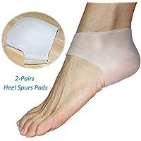 (2 Paar)Talon en Gel hydratant manches Chaussettes, manchon de fasciite plantaire, bille de massage, support de voûte plantaire silicone Heel Ankle Pain Relief Coussin