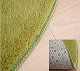 QETU Volltonfarbe Runder Teppich Computer Stuhl Teppiche Kuppel Matratze Fußmatten Shaggy Faux Pelz Area Rug für Wohnzimmer Kinderzimmer,#2,1mdiameter