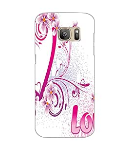 SAMSUNG GALAXY S7 EDGE LOVE Back Cover by PRINTSWAG