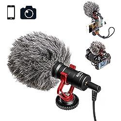 Boya Microphone de caméra vidéo pour Enregistrement du Son de Vos vidéos Facebook, Youtube etc.