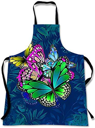 Sweet Gisele Kochschürze Schmetterling 3D Print Schmetterlinge Chef Schürze - tolles Zuhause Küche Souvenir Geschenk weich - Reisezubehör Made in USA - Einheitsgröße verstellbar Lätzchen Unisex