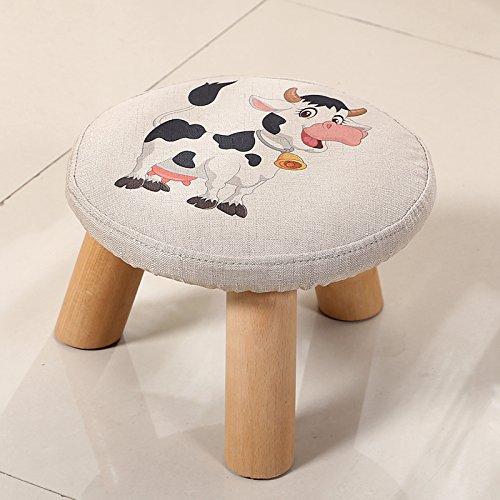 Dana Carrie En d'autres selles banc de chaussures sur une table basse tabouret bas en bois massif et tissus adultes enfants créatifs élégante petite chaise canapé rond est que le mollet