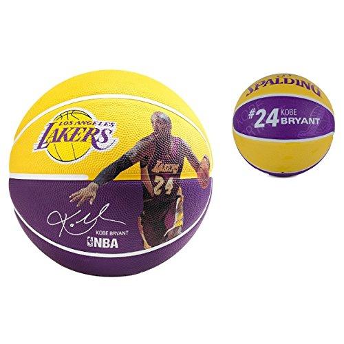 Spalding-Ball Player NBA Kobe Bryant Size Rubber 7