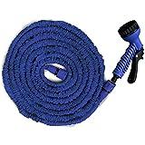 Flexibler Gartenschlauch Oskar   blau   geringes Gewicht & platzsparende Aufbewahrung   inkl. Brause mit 7 Funktionen   bis 3 Bar   drei Längen wählbar (22,5m)