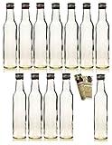 gouveo 24 leere Glasflaschen 'Bordeaux' 250 ml incl. Schraubverschluss und Flaschendiscount-Rezeptbroschüre zum selbst Abfüllen Likörflasche Schnapsflasche