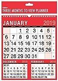 2019 carré trois mois pour voir spirale mur lié planificateur calendrier