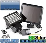 (60 LED) Solar Security Light, Motion Sensor for Garden Patio Garage Wall, Increase Home Security - Energy Efficient - Easy to Install - Waterproof