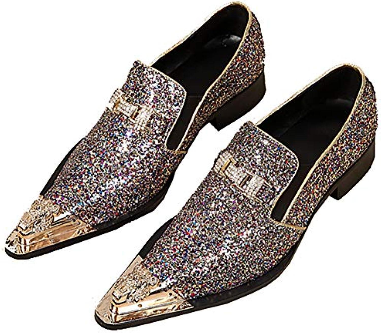 & 65509;scarpe 65509;scarpe 65509;scarpe Scarpe Oxford da Uomo da Lavoro Casual Classica con Paillettes Eleganti Scarpe | Di Alta Qualità E Basso Overhead  3afcd9