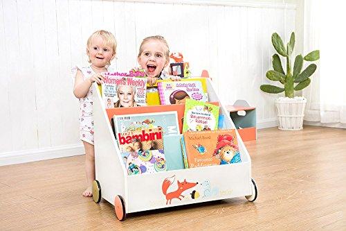 Kinder Bücherregal mit  Rädern - 3