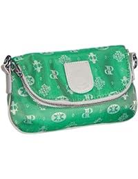 Poodlebags Club - Attrazione - Venezia - 3CL0313VENEG, Pochette donna 25x14x4 cm (L x A x P), Verde (Grün (green)), 25x14x4 cm (L x A x P)