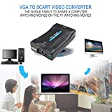 Ballylelly VGA zu Scart-Konverter Video Converter Tragbare Video Digital Switch Box